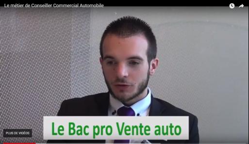 Vidéo de présentation du Bac Pro Vente Automobile
