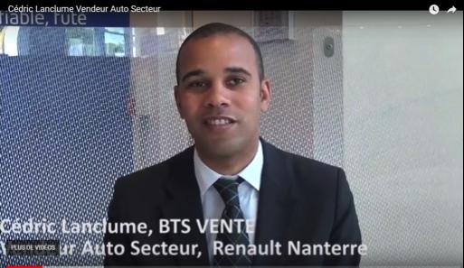 Présentation du BTS force de vente automobile