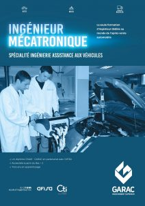 Description de la formation d ingenieur en mecatronique automobile GARAC CNAM