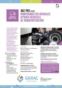 Bac Pro maintenance des véhicules de transport routier