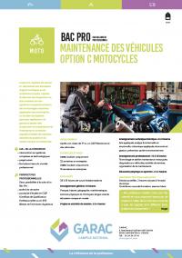 Le Bac Pro mécanique moto est devenu maintenance des véhicules motocycles