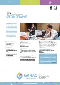 Fiche descriptive du BTS Gestion PME application professionnelle automobile