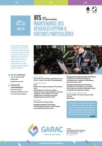 le BTS mecanique automobile correspond à l'ancien BTS AVA devenu BTS MV option A