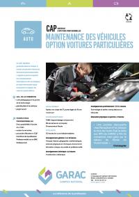 Cap mecanique auto en alternance au CFA du GARAC
