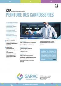 Formation de carrossier peintre automobile en CFA, CAP au GARAC