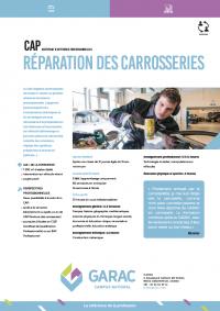Formation au métier de carrossier réparateur - diplome CAP en alternance au GARAC