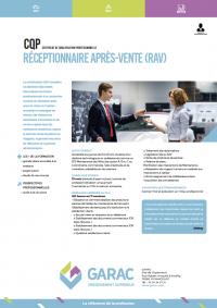 Certificat Qualification Professionnelle RAV Receptionnaire Apres Vente