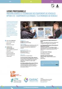 Description de la licence pro maintenance automobile : technologie et equipements du vehicule