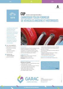 Formation reparation carrosserie et tolerie de vehicules anciens et historiques